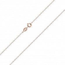 Серебряная цепочка Эксетер в позолоте, 1мм