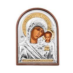 Икона Казанская Божья Матерь с серебрением 000137056