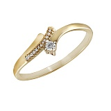Кольцо из желтого золота Делия с бриллиантами