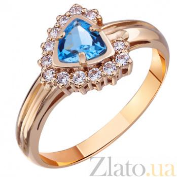 Золотое кольцо с топазом Голубая бездна AUR--31503 01