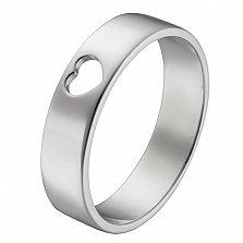 Кольцо в белом золоте Сердечко