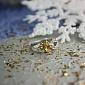 Серебряное кольцо с цитрином и цирконием Санти ZMX--RCzCt-6536-Ag_K