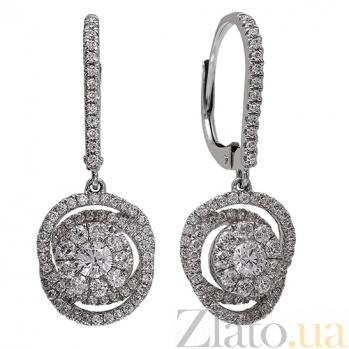 Золотые серьги с бриллиантами Невеста 1С809-0161