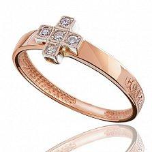 Золотое кольцо с цирконием Благодать