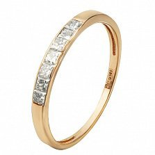 Кольцо из красного золота с бриллиантами Эмилиена