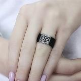 Кольцо из каучука и серебра Адгара