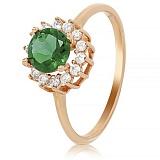 Золотое кольцо с ониксом и фианитами Сен-Тропе