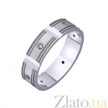 Золотое обручальное кольцо Винтаж с фианитами TRF--422558