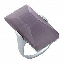 Серебряное родированное кольцо Юта с фиолетовым улекситом