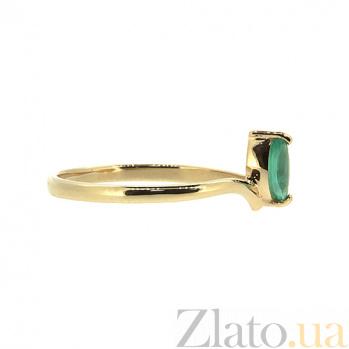 Кольцо в красном цвете золота с изумрудом и бриллиантами Юнайк ZMX--RDE-5572_K
