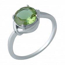 Серебряное кольцо Хемми с султанитом и элементами плетения