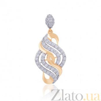 Золотой кулон Элеонора с цирконием EDM--П2016L