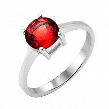 Серебряное кольцо Вечернее небо с рубином