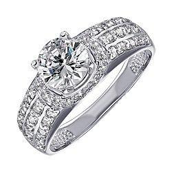 Кольцо из белого золота с фианитами 000130151