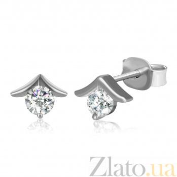Серебряные сережки с цирконием Кирстэн SLX--С2Ф/495