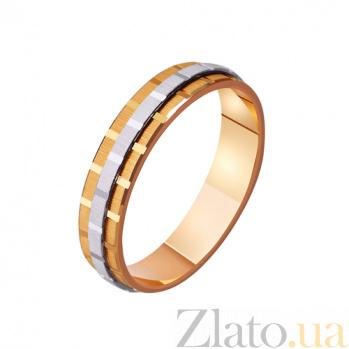 Золотое обручальное кольцо Дань современности TRF--421118