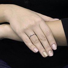 Золотое помолвочное кольцо Инсар в белом цвете с бриллиантом