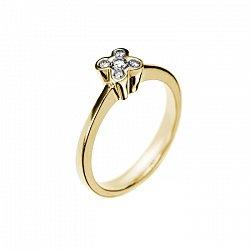 Кольцо в желтом золоте Dreaminess с бриллиантами