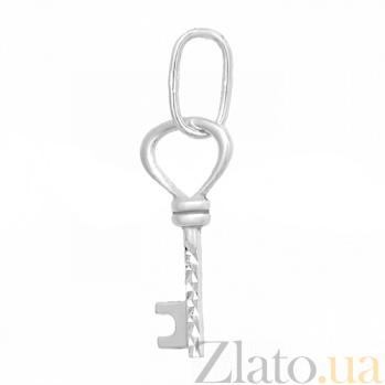 Серебряная подвеска Ключ с алмазной насечкой 000057046