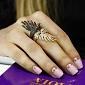 Кольцо из красного золота Лебединая нежность с фианитами VLT--ТТТ1271