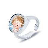 Серебряное кольцо с муранским стеклом Айлин