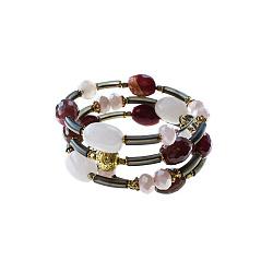 Спиральный браслет Настроение с разноцветным кварцем и кристаллами Swarovski 000071372