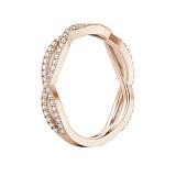 Обручальное кольцо из розового золота Ты, я и море