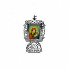 Серебряная икона Богородица и Иисус