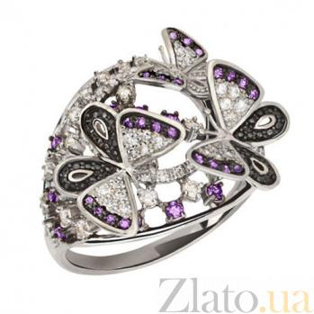 Кольцо с фиолетовым цирконием Бриджид VLT--ТТ1137