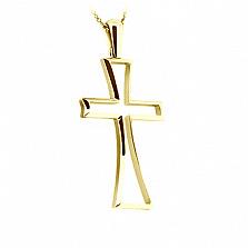 Золотой крест в желтом цвете Прощение на цепочке