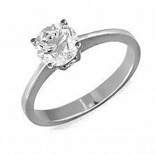 Кольцо из белого золота Любимица с бриллиантом