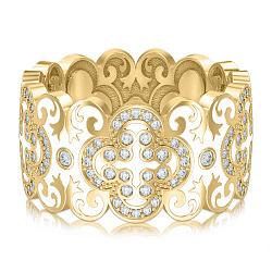 Обручальное кольцо из желтого золота Калейдоскоп Любви: В ожидании Чуда 000010743