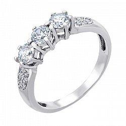 Серебряное кольцо с цирконием 000014519