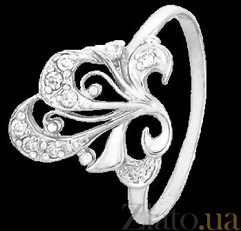 Серебряное кольцо с фианитами Этери 000025548