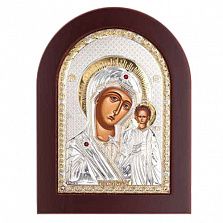Казанская икона Богоматери серебро с позолотой
