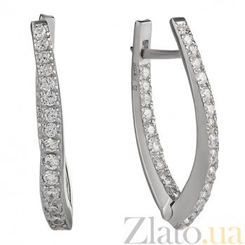 Серебряные серьги Дуга 2941р