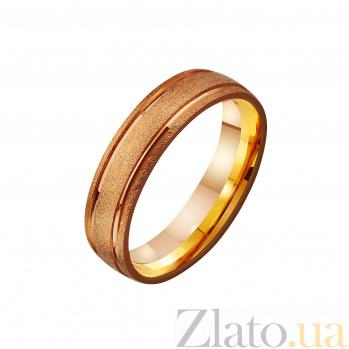 Золотое матированное обручальное кольцо Счастливы в браке TRF--4111180