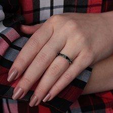 Серебряное кольцо Паула с гранатами и зеленым кварцем