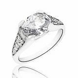 Кольцо из серебра Первая любовь с фианитом
