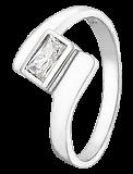 Серебряное кольцо с фианитом Бриджида