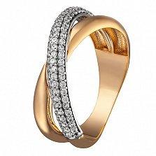 Кольцо в красном золоте Агния с фианитами