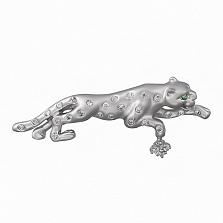 Серебряная брошь Пантера