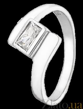 Серебряное кольцо с фианитом Бриджида 000025718