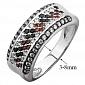 Серебряное кольцо с фианитами Россыпь 000032511