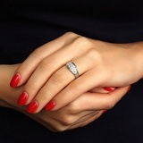 Золотое кольцо Эллис с бриллиантами