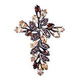 Серебряный крестик с фианитами Богема