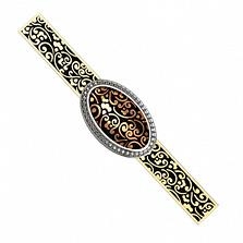 Золотой зажим для галстука с бриллиантами Эдвин