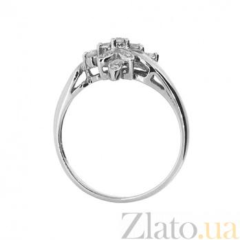 Золотое кольцо в белом цвете с бриллиантами Талия 000021389