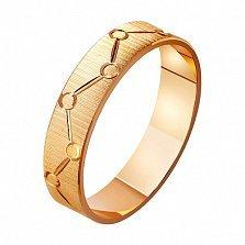 Золотое обручальное кольцо Стиль