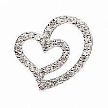 Подвес из белого золота с бриллиантами Сердцебиение